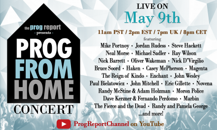 The Prog Report to host All-Star 'Prog From Home' concert featuring Mike Portnoy, Jordan Rudess, Steve Hackett, Neal Morse and more.